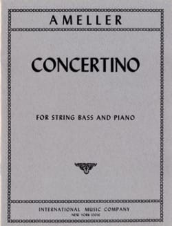 Concertino - String bass - piano André Ameller Partition laflutedepan