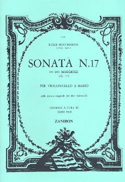 Sonate N° 17 G17 BOCCHERINI Partition Violoncelle - laflutedepan