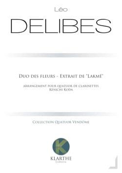 Duo des Fleurs - 4 Clarinettes DELIBES Partition laflutedepan