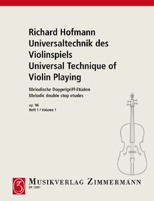 Richard Hofmann - Melodische Doppelgriff-Etüden Op.96 Volume 1 - Partition - di-arezzo.com