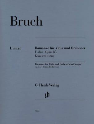 Romanze für Viola, F-dur op. 85 BRUCH Partition Alto - laflutedepan