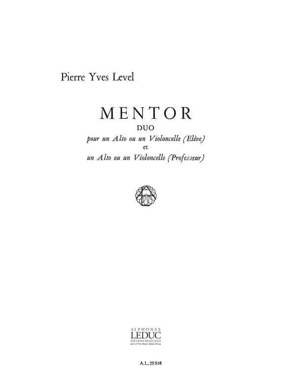 Mentor - 2 Altos ou 2 Cellos - Pierre-Yves Level - laflutedepan.com