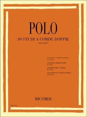 30 Etudes en doubles cordes Enrico Polo Partition laflutedepan