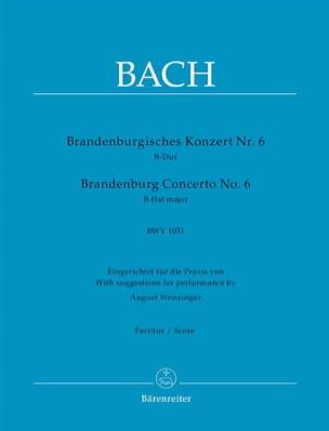 Brandenburgisches Konzert Nr. 6, B-Dur BWV 1051 BACH laflutedepan