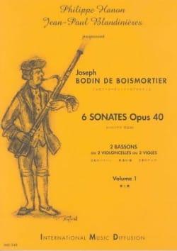 6 Sonates Opus 40 Volume 1 BOISMORTIER Partition Basson - laflutedepan
