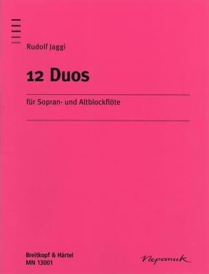 12 Duos Rudolf Jaggi Partition Flûte à bec - laflutedepan