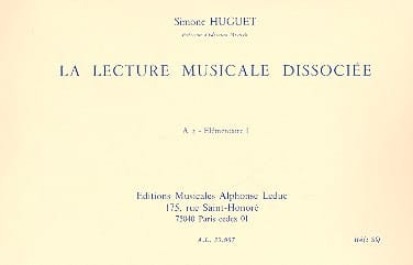 Lecture musicale dissociée - A2 - Elém. 1 - laflutedepan.com