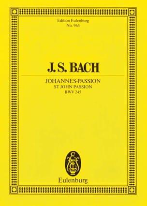 Johannes-Passion - Score BACH Partition Petit format - laflutedepan