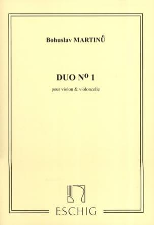 Duo n° 1 - Violon violoncelle MARTINU Partition 0 - laflutedepan