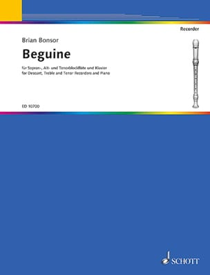 Beguine -descant, treble, tenor recorders piano laflutedepan