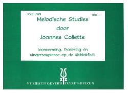 Melodische Studies - Volume 2 Joannes Collette Partition laflutedepan