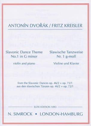 Slavonic dance-themes n° 1 in G minor DVORAK Partition laflutedepan