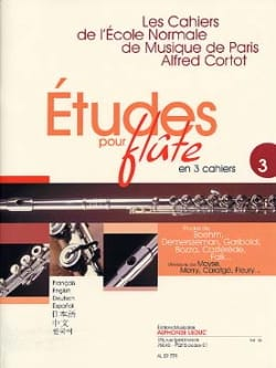 - Studies for flute - Volume 3 Cahiers of the Normal School - Partition - di-arezzo.co.uk