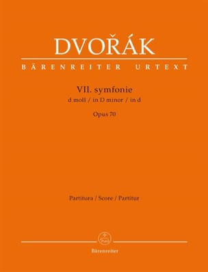 Symphonie n° 7 en ré mineur op. 70 DVORAK Partition laflutedepan