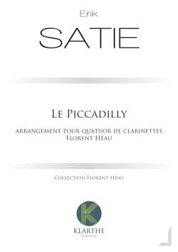 Le Piccadilly - 4 Clarinettes SATIE Partition laflutedepan