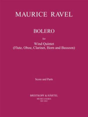 Boléro - Quintette à Vents RAVEL Partition Quintettes - laflutedepan