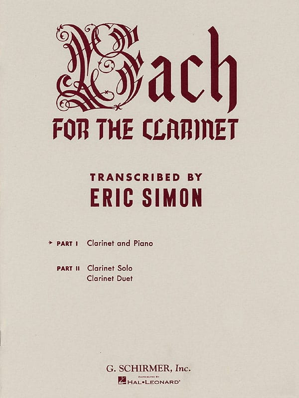 Bach for the clarinet - Volume 1 - BACH - Partition - laflutedepan.com