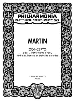 Concerto pour 7 instruments -Partitur Frank Martin laflutedepan