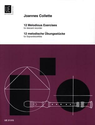 12 Melodische Ubungsstücke Joannes Collette Partition laflutedepan