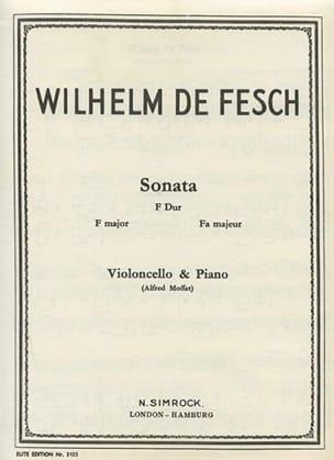 Sonata F Dur Willem de Fesch Partition Violoncelle - laflutedepan