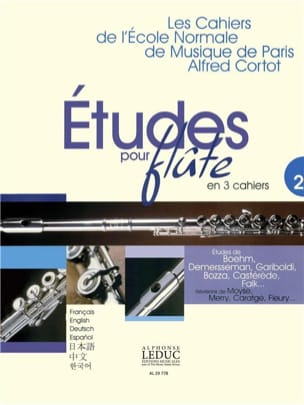 Studies for flute - Volume 2 Cahiers of the Normal School - Partition - di-arezzo.co.uk