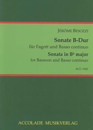 Sonate B-Dur Jerome Besozzi Partition Basson - laflutedepan
