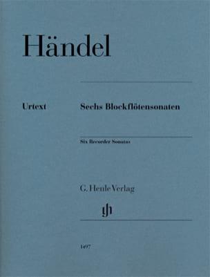 6 sonatas pour flûte à bec HAENDEL Partition laflutedepan