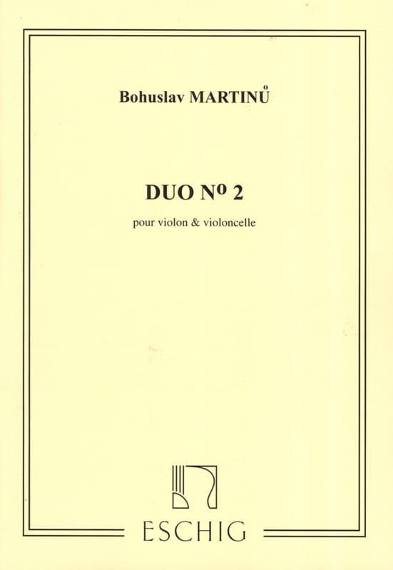 Duo n° 2 - Violon violoncelle - MARTINU - Partition - laflutedepan.com
