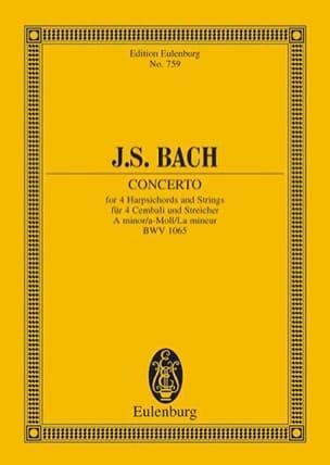 Konzert a-moll, BWV 1065 BACH Partition Petit format - laflutedepan