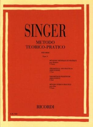 Sigismondo Singer - Método Theorico-Pratico - Oboe - Volume 5 - Partition - di-arezzo.fr
