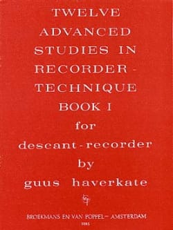 12 Advanced Studies In Recorder Technique Volume 1 laflutedepan