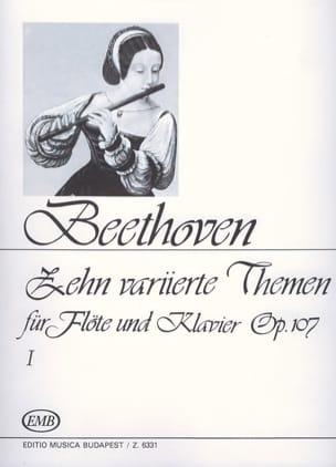 10 Variierte Themen, op. 107 Volume 1 -Flöte Klavier laflutedepan