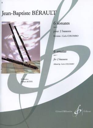 6 Sonates pour 2 bassons op. 1 Jean-Baptiste Bérault laflutedepan