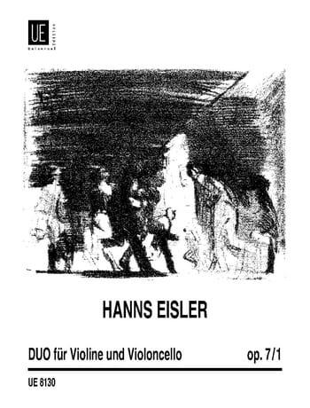 Duo op. 7 n° 1 - Hanns Eisler - Partition - 0 - laflutedepan.com