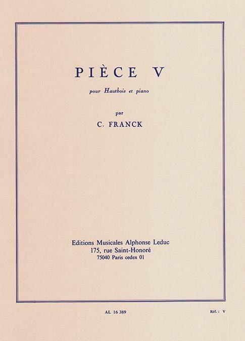 Pièce V - FRANCK - Partition - Hautbois - laflutedepan.com
