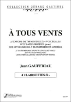 A tous vents - Clarinettes - Jean Gauffriau - laflutedepan.com