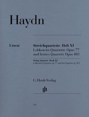 Quatuors à cordes volume XI op. 77 et op. 103 (Quartuors Lobkowitz et dernier qu laflutedepan