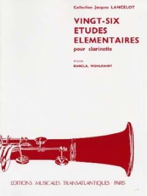 26 Etudes élémentaires - Jacques Lancelot - laflutedepan.com