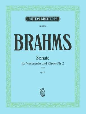 Sonate n° 2 en fa majeur op. 99 BRAHMS Partition laflutedepan