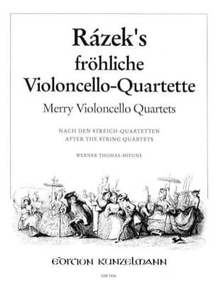 Fröhliche Violoncelle-Quartette Anton Razek Partition laflutedepan