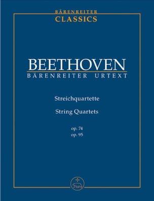 String Quartets Op.74 & 95 BEETHOVEN Partition laflutedepan