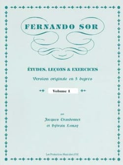 Études, Leçons & Exercices SOR Partition Guitare - laflutedepan