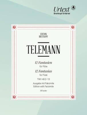 Georg Philipp Telemann - 12 Fantaisies pour Flûte - Partition - di-arezzo.fr