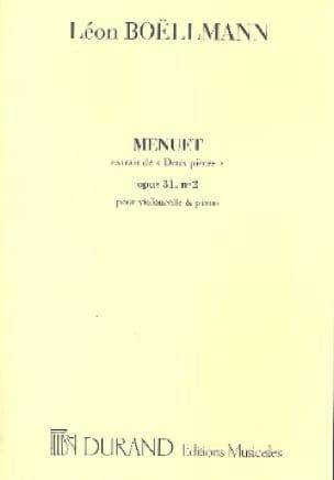 Pièce N°2 Op.31 - Menuet - Léon Boëllmann - laflutedepan.com