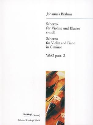 Scherzo C-Moll, WoO post. 2 - BRAHMS - Partition - laflutedepan.com