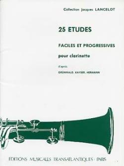 Jacques Lancelot - 25 estudios fáciles y progresivos - Partition - di-arezzo.es