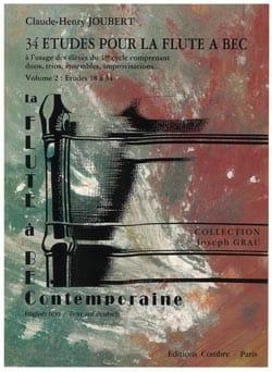 34 Etudes - Vol.2 - Flûte A Bec Soprano laflutedepan
