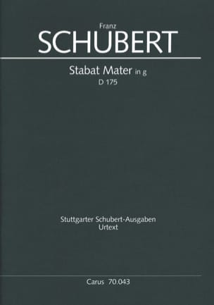 Stabat Mater In G-Moll D 175 SCHUBERT Partition laflutedepan