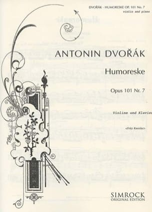Humoreske op.101 n° 7 Kreisler DVORAK Partition Violon - laflutedepan