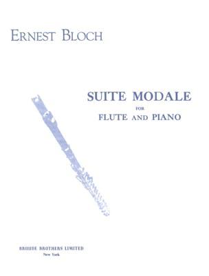 Suite modale BLOCH Partition Flûte traversière - laflutedepan